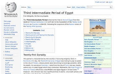 http://en.wikipedia.org/wiki/Third_Intermediate_Period_of_Egypt