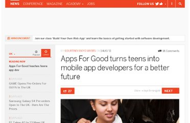 http://thenextweb.com/uk/2011/08/01/apps-for-good-turns-teens-into-mobile-app-developers-for-a-better-future/