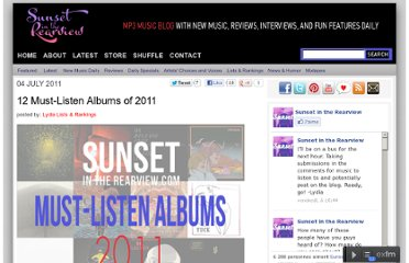 http://sunsetintherearview.com/12-must-listen-albums-2011/