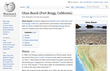 http://en.wikipedia.org/wiki/Glass_Beach_%28Fort_Bragg,_California%29
