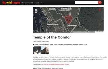 http://wikimapia.org/8871176/Temple-of-the-Condor