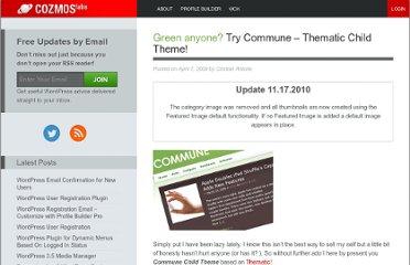 http://www.cozmoslabs.com/311-green-anyone-try-commune-thematic-child-theme/