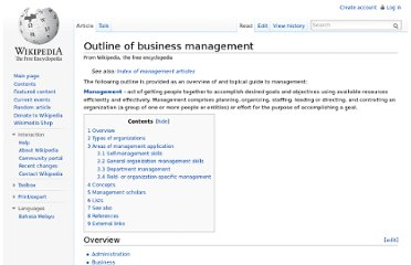 http://en.wikipedia.org/wiki/Outline_of_business_management