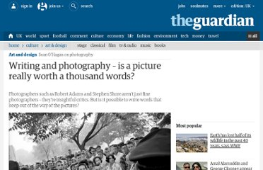 http://www.guardian.co.uk/artanddesign/2010/aug/04/writing-about-photography-robert-adams
