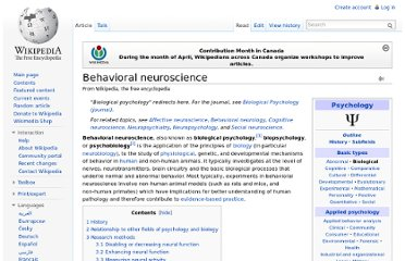 http://en.wikipedia.org/wiki/Behavioral_neuroscience