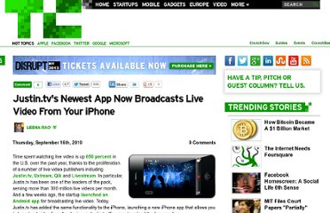 http://techcrunch.com/2010/09/16/justin-tvs-newest-app-now-broadcasts-live-video-from-your-iphone/