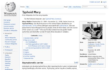 http://en.wikipedia.org/wiki/Typhoid_Mary
