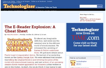 http://technologizer.com/2009/10/26/the-e-reader-explosion-a-cheat-sheet/