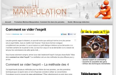 http://www.techniquesmanipulation.com/top/comment-se-vider-lesprit-108
