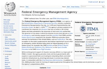 http://en.wikipedia.org/wiki/Federal_Emergency_Management_Agency