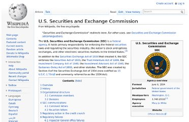 http://en.wikipedia.org/wiki/U.S._Securities_and_Exchange_Commission
