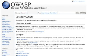 https://www.owasp.org/index.php/Category:Attack