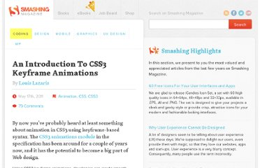 http://coding.smashingmagazine.com/2011/05/17/an-introduction-to-css3-keyframe-animations/