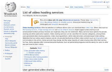 http://en.wikipedia.org/wiki/List_of_video_hosting_services