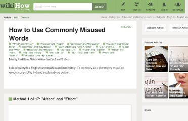 http://www.wikihow.com/Use-Commonly-Misused-Words