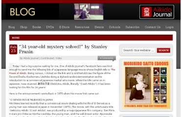 http://blog.aikidojournal.com/2011/02/23/34-year-old-mystery-solved-by-stanley-pranin/