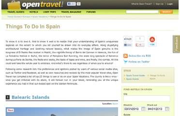 http://opentravel.com/Things-To-Do-In-Spain-Attractions