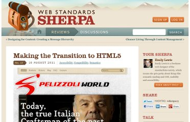 http://webstandardssherpa.com/reviews/making-the-transition-to-html5/