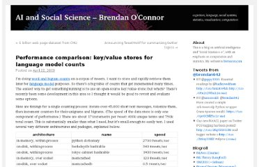 http://brenocon.com/blog/2009/04/performance-comparison-keyvalue-stores-for-language-model-counts/