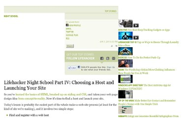 http://lifehacker.com/5790046/lifehacker-night-school-part-iv-choosing-a-host-and-launching-your-site