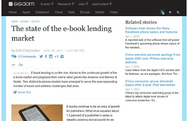 http://gigaom.com/2011/06/16/the-state-of-the-e-book-lending-market/