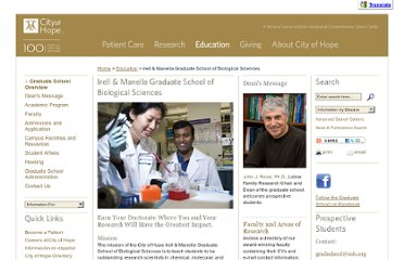 http://www.cityofhope.org/education/grad-school/Pages/home.aspx