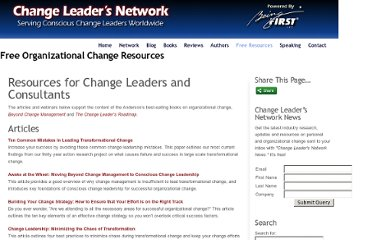 http://changeleadersnetwork.com/free-resources