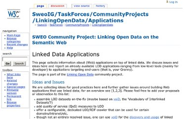 http://www.w3.org/wiki/SweoIG/TaskForces/CommunityProjects/LinkingOpenData/Applications