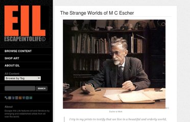 http://www.escapeintolife.com/essays/the-strange-worlds-of-m-c-escher/