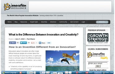 http://www.innovationexcellence.com/blog/2010/06/07/what-is-the-difference-between-innovation-and-creativity/
