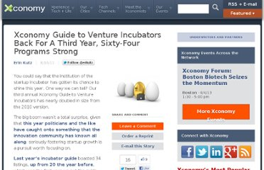 http://www.xconomy.com/national/2011/08/10/xconomy-guide-to-venture-incubators-back-for-a-third-year-sixty-four-programs-strong/