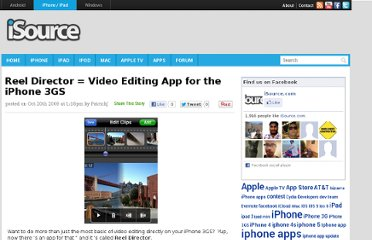 http://isource.com/2009/10/20/reel-director-video-editing-app-for-the-iphone-3gs/