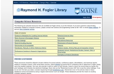 http://www.library.umaine.edu/science/compsci.htm