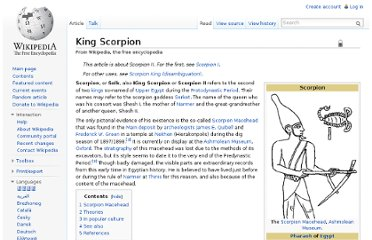http://en.wikipedia.org/wiki/King_Scorpion