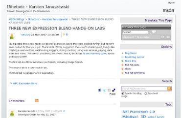 http://blogs.msdn.com/b/karstenj/archive/2007/05/22/three-new-expression-blend-hands-on-labs.aspx