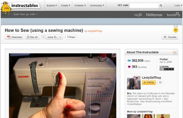 http://www.instructables.com/id/How-to-Sew-using-a-sewing-machine/