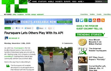http://techcrunch.com/2009/11/16/foursquare-api/