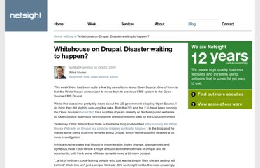 http://www.netsight.co.uk/blog/whitehouse-on-drupal-disaster-waiting-to-happen