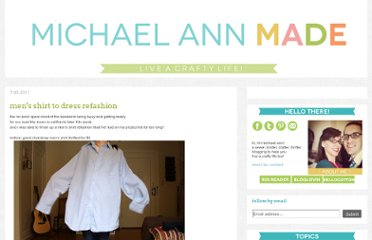 http://www.michaelannmade.com/2011/07/mens-shirt-to-dress-refashion.html