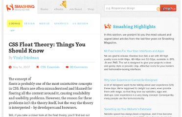 http://coding.smashingmagazine.com/2007/05/01/css-float-theory-things-you-should-know/