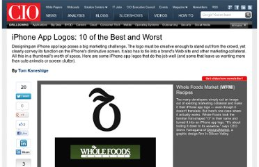 http://www.cio.com/article/503569/iPhone_App_Logos_10_of_the_Best_and_Worst