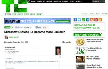 http://techcrunch.com/2009/11/18/microsoft-outlook-to-become-even-more-linkedin/