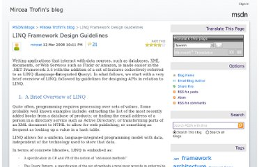 http://blogs.msdn.com/b/mirceat/archive/2008/03/13/linq-framework-design-guidelines.aspx