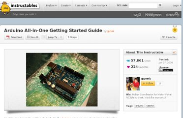 http://www.instructables.com/id/Arduino-All-in-One-Getting-Started-Guide/