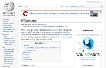 http://en.wikipedia.org/wiki/Wikinomics:_How_Mass_Collaboration_Changes_Everything