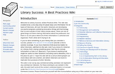 http://www.libsuccess.org/index.php?title=Library_Success:_A_Best_Practices_Wiki