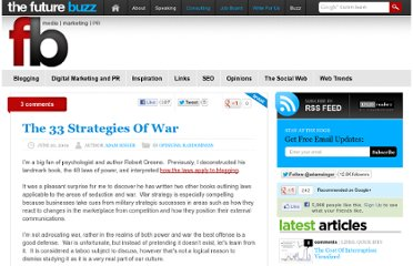 http://thefuturebuzz.com/2009/06/20/33-strategies-of-war/