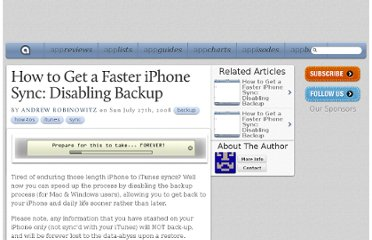 http://appadvice.com/appnn/2008/07/how-to-get-a-faster-iphone-sync-disabling-backup