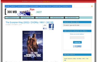 http://www.300mbrips.net/2010/10/the-scorpion-king-2002-dvdrip-mkv-300-mb.html