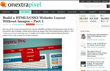 http://www.onextrapixel.com/2010/06/02/build-a-html5-css3-website-layout-without-images%e2%80%93part-1/